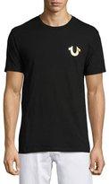 True Religion Metallic Buddha T-Shirt, Black