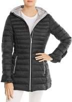 T Tahari Maya Ruffled Puffer Coat