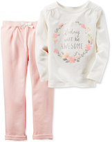 Carter's Baby Girls' 2-Pc. Today Will Be Awesome Top & Jogger Pants Set