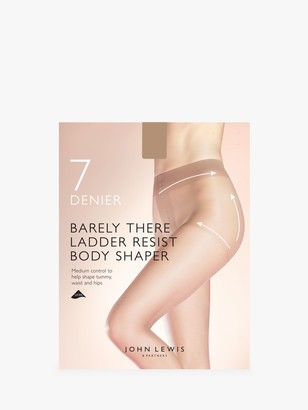 John Lewis & Partners 7 Denier Barely There Ladder Resist Body Shaper Tights, Pack of 1