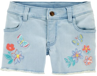 Carter's Girls 4-14 Butterfly Denim Shorts