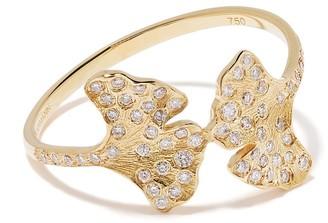 Aurélie Bidermann 18kt yellow gold Ginkgo diamond ring