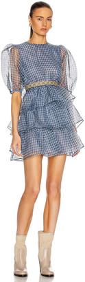Ganni Organza Dress in Heather | FWRD