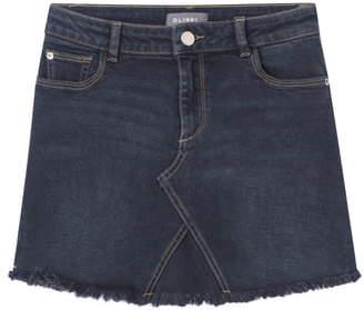 DL1961 Fray Hem Denim Miniskirt