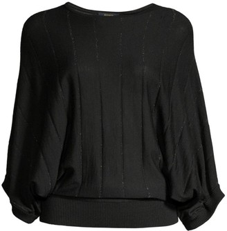 Peserico Lurex Kimono-Sleeve Sweater