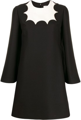 Valentino Scalloped Detail Mini Dress
