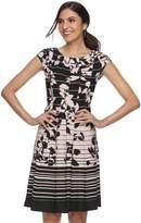 Elle Women's Floral Print Fit & Flare Dress