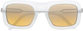 Calvin Klein Clear Squared Sunglasses