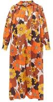 Dodo Bar Or Valerie Floral-print Cotton-muslin Kaftan - Womens - Brown Print