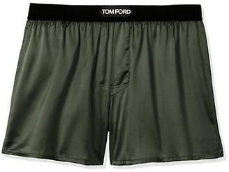Tom Ford Stretch-Silk Logo Boxer Shorts