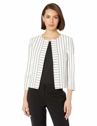 Tahari ASL Women's Collarless Seamed Jacket
