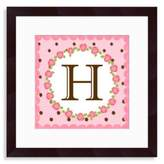 "Bed Bath & Beyond Monogram Rose Initial ""H"" Wall Art"