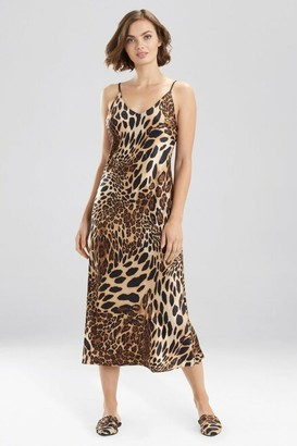 Natori Luxe Leopard Gown