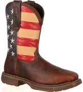 Durango Men's American Flag Square Steel Toe Brown Western Boots, DB020
