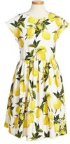 Dolce & Gabbana Toddler Girl's 'Limoni' Cap Sleeve Dress