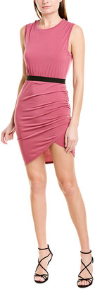 BCBGMAXAZRIA Asymmetric Sheath Dress