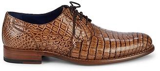 Mezlan Hercules Crocodile Leather Derbys