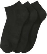 Joe Fresh Women's 3 Pack Sports Socks, Black (Size 9-11)