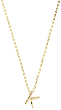 Zoe Lev 14K Yellow Gold Large Nail Initial Necklace, 18