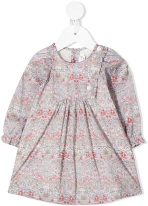 Bonpoint Floral Long-Sleeve Dress