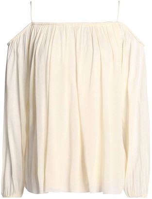 Bailey 44 Cold-shoulder Gathered Modal Top