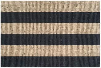 Doormat Designs Black/natural Style Coir Rug