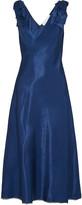 Victoria Beckham Bow-embellished satin midi dress