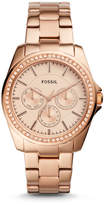 Fossil Janice Multifunction Rose Gold-Tone Stainless Steel Watch