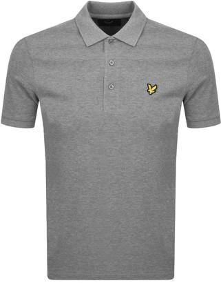 Lyle & Scott Short Sleeved Polo T Shirt Grey