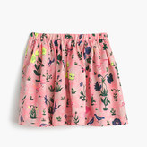 J.Crew Girls' pull-on skirt in bird garden