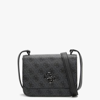 GUESS Mini Noelle Repeat Logo Coal Cross-Body Bag
