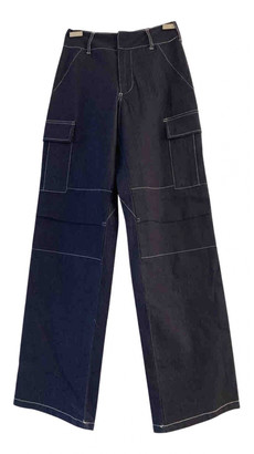 I.AM.GIA Blue Polyester Trousers