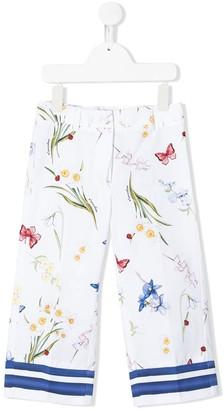 MonnaLisa Multi-Print Front Pleated Trousers