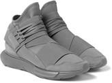 Y-3 - Qasa Suede-trimmed Neoprene High-top Sneakers
