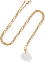 Marie Helene De Taillac Marie-Hélène de Taillac - 22-karat Gold Moonstone Pendant - one size