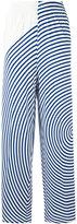 MM6 MAISON MARGIELA wide leg striped trousers - women - Polyamide/Spandex/Elastane/Viscose - M