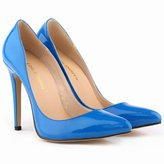YINHAN Women's Candy Color Patent PU leather High Heel Pointed Pumps