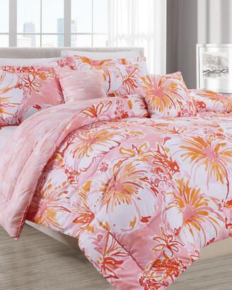 Melange Home Barbarian Kombucha Cha 5Pc Comforter Set