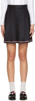 Thom Browne Navy Pleated Miniskirt
