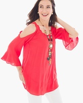 Chico's Cold-Shoulder Bell-Sleeve Top