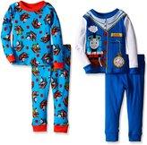 Thomas & Friends Thomas the Train Little Boys' Time To Conduct 4-Piece Pajama Set