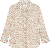 Equipment Leopard-print Washed-silk Shirt - Leopard print