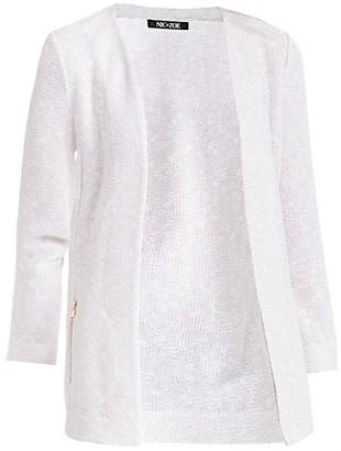 NIC+ZOE, Plus Size Copper Shine Knit Jacket