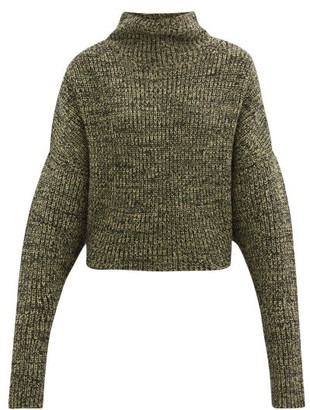 Petar Petrov Nerys High-neck Melange Cashmere Sweater - Black Yellow