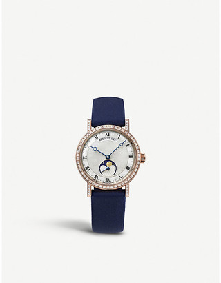 Breguet G9088BR52964DD0D Classique Dame 18ct rose-gold, diamond and alligator-leather watch