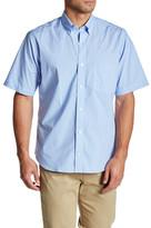 Tailorbyrd Cleveland Short Sleeve Plaid Trim Fit Shirt