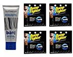 Barc Cutting Up, Unscented Shave Cream, 2 Oz + Bump Fighter Cartridge Refill, 5 Ct (Pack of 4) + FREE Curad Bandages 8 Ct.