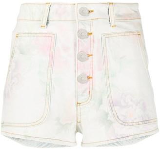 Sandro Paris Flow floral denim shorts