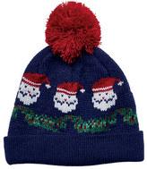 San Diego Hat Company Women's Santa Knit Beanie with Pom Pom KNH3499