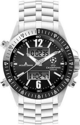 Jacques Lemans UEFA Champions League U-34C Gents Metal Bracelet Soccer Watch